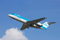 Klm amsterdam aug fokker taking off from schiphol airport on august amsterdam the netherlands is the flag carrier airline of Stock Photography