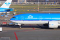 KLM Boeing 777 Royalty Free Stock Photo