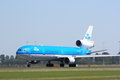 Klm md a on its take off run Royalty Free Stock Photos