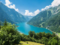 Kloentaler lake in summer view of kloenthalsee glarus switzerland Stock Photo
