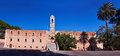Kloster agia triada monastery of facade in crete greece Stock Photography