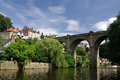 Knaresborough england view of in Stock Image