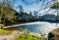 Knaresborough weir Royalty Free Stock Photo