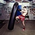Knee punch Royalty Free Stock Photos