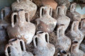 Knidian amphoras bodrum castle of st peter s century b c Stock Photography