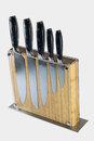 Knife block set isolated on white background Royalty Free Stock Photo