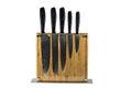 Knife block set isolated on white background Royalty Free Stock Photo