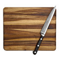 Knife on Chopping Board Isolated Royalty Free Stock Photos