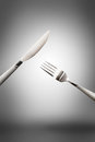 Knife fork and spoon on background Royalty Free Stock Photo