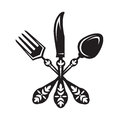 Knife, fork and spoon Royalty Free Stock Photo