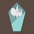 Knife Fork Spoon Set. Royalty Free Stock Photo