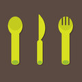 Knife fork spoon vector illustration Royalty Free Stock Photography