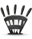 Knife set for the kitchen vector illustration Stock Photography