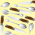Knife and spoon background