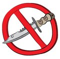 Knife weapon not allowed sign Royalty Free Stock Photo