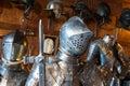 Knight armor a medieval knigt details warwick castle warwickshire england Stock Photos