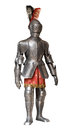Knight armour suit, isolated Royalty Free Stock Photo