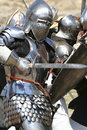 Knight attacks Royalty Free Stock Photo