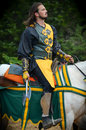 Knight Dueling at Renaissance Festival Royalty Free Stock Photo