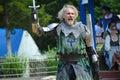 Knight Dueling at Renaissance Festival Royalty Free Stock Photo