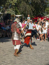Knight fight at sighisoara medieval festival Royalty Free Stock Photo