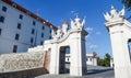 The knight guide sculpture group of bratislava castle gate in bratislava slovakia june Stock Photo