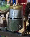 Knight helmet closeup Royalty Free Stock Photo