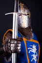 Knight holding a sword Stock Images