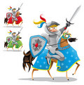Knight and horse. Royalty Free Stock Images