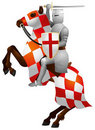 Knight on the Horse, Crusader Stock Photos
