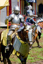 Knight at renaissance fair Royalty Free Stock Photos