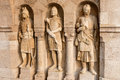 Knight sculptures in Fisherman's Bastion, Budapest, Hungary Royalty Free Stock Photo