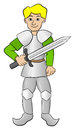 Knight with sword and armor Royalty Free Stock Photo