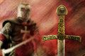 Knight and sword background Royalty Free Stock Photo