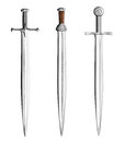 Knight swords set isolated Stock Images