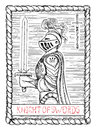 Knight of swords. The tarot card. Royalty Free Stock Photo