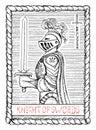 Knight of swords. The tarot card. Royalty Free Stock Photo