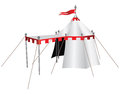 Knight is tent knights with a canopy in front of the entrance vector illustration Royalty Free Stock Images