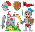 Knight theme collection 1 Royalty Free Stock Photo