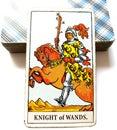 Knight of Wands Tarot Card Royalty Free Stock Photo