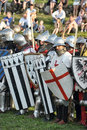 Knights in armor with shields Royalty Free Stock Photo