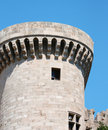 Knights castle at Rhodos Island Royalty Free Stock Images