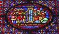 Knights castle seige crusade stained glass sainte chapelle paris saint france saint king louis th created in to house christian Royalty Free Stock Photos