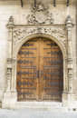 Knights gate entrance into the castle in medieval gothic style Royalty Free Stock Photo