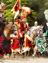 Medieval Knight Horse Riding, Prague Castle Jousting Royalty Free Stock Photo