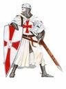 Knights Templar Royalty Free Stock Photo