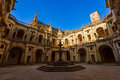 Knights of the Templar (Convents of Christ) castle - Tomar Portu Royalty Free Stock Photo