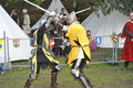 Knights tournament medieval festival nuremberg two nights fighting in a at the in bavaria south west germany photo taken at the Stock Image