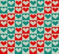 Knit pattern seamless with hearts Royalty Free Stock Photography