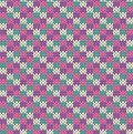 Knit pattern seamless multicolored squares Royalty Free Stock Images